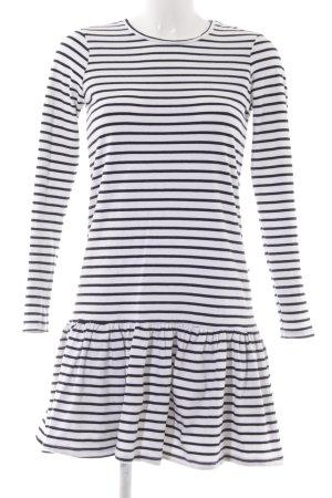 Noisy May Jerseykleid schwarz-weiß Streifenmuster Casual-Look