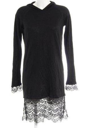 Noisy May Robe à capuche noir style décontracté