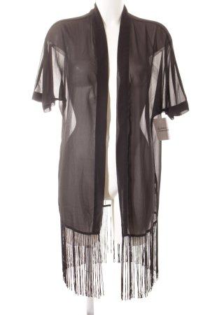 Noisy May Kimono negro look transparente