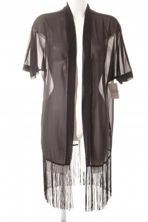 Noisy May Kimono black transparent look