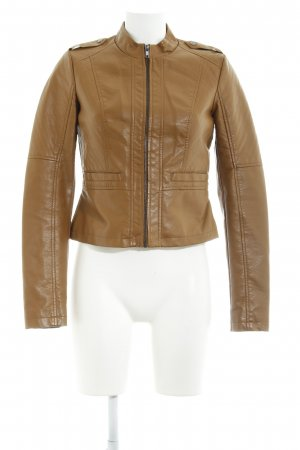 Noisy May Kunstlederjacke camel Casual-Look