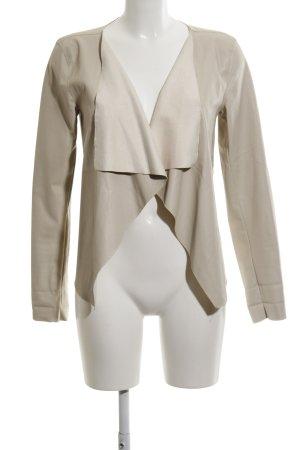 Noisy May Veste en cuir synthétique beige clair style décontracté