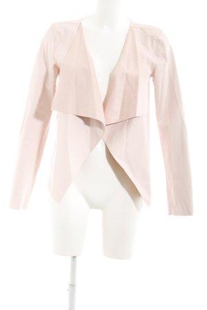 Noisy May Veste en cuir synthétique rose clair style mouillé