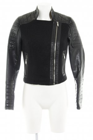Noisy May Veste en cuir synthétique noir Look de motard