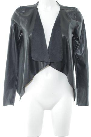 Noisy May Veste en cuir synthétique noir style décontracté