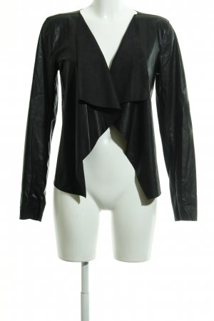 Noisy May Veste en cuir synthétique noir élégant