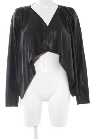 Noisy May Veste en cuir synthétique noir style minimaliste