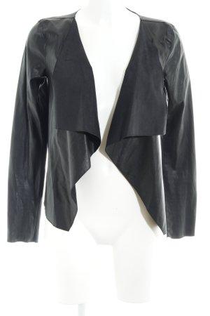 Noisy May Veste en cuir synthétique noir style simple