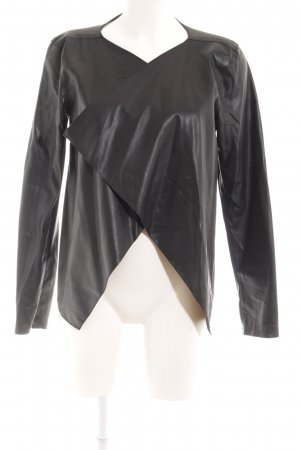Noisy May Blazer in pelle nero stile casual