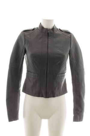 Noisy May Lederjacke dunkelgrau Biker-Look