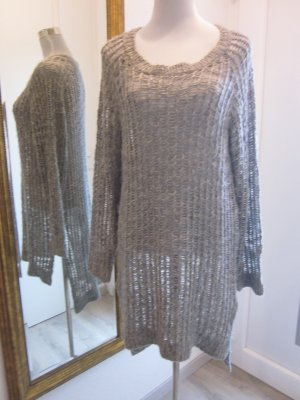 Noisy May Long Strickpullover Gr XL Grau