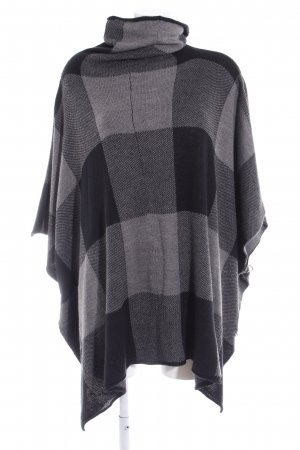 Noisy May Poncho grau-schwarz Karomuster Casual-Look