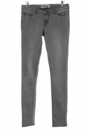 Noisy May Drainpipe Trousers light grey Ornamental buttons