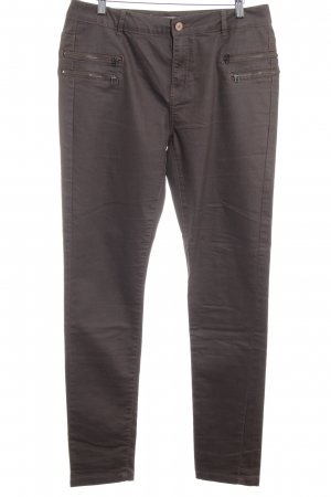 Noisy May Drainpipe Trousers ocher-grey brown casual look