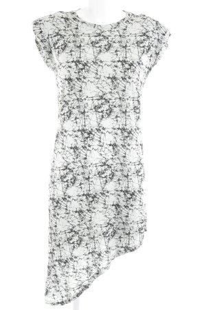 Noisy May Shirtkleid blassblau-schwarz abstraktes Muster Casual-Look