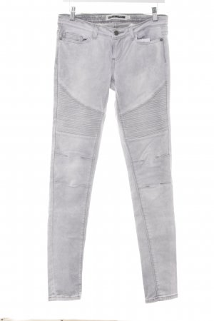 Noisy May Skinny Jeans hellgrau Washed-Optik