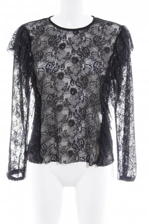 Noisy May Lace Top black floral pattern elegant