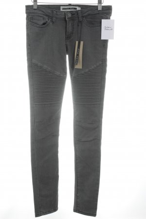 Noisy May Stretch Trousers dark grey athletic style