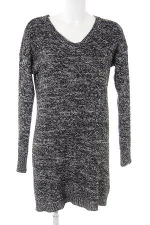 Noisy May Strickkleid schwarz-weiß meliert Casual-Look
