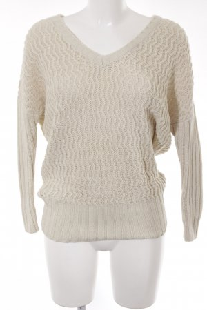 Noisy May Strickpullover creme Casual-Look