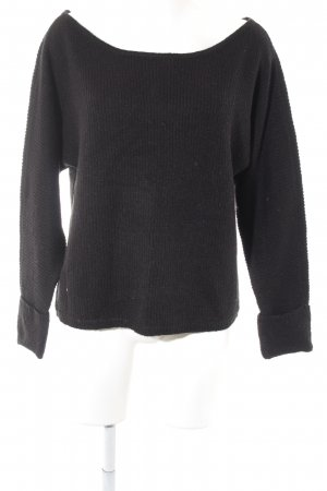 Noisy May Strickpullover schwarz Streifenmuster Casual-Look