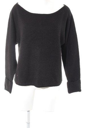 Noisy May Maglione lavorato a maglia nero motivo a righe stile casual