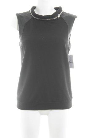 Noisy May T-Shirt schwarz Zierreißverschluss