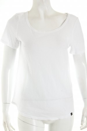 Noisy May T-Shirt weiß Struktur-Optik