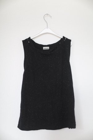 Noisy May Muscle Shirt black-silver-colored
