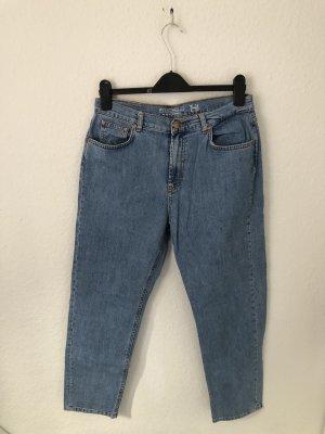 Noisy Mom Jeans Hellblau