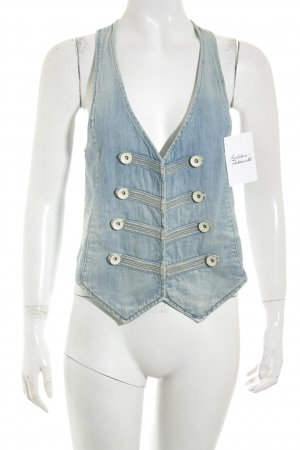 Nolita de Nimes Denim Vest blue casual look