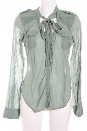 Nolita de Nimes Langarm-Bluse graugrün Casual-Look