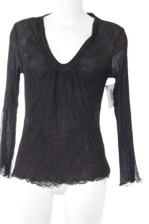 Nolita de Nimes Langarm-Bluse schwarz schlichter Stil