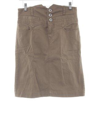 Nolita Falda de talle alto marrón grisáceo look casual