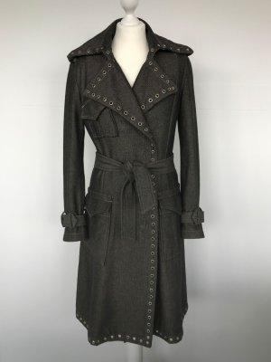 Nolita Trench Coat 50er Jahre Style mit Ösen und Fischgrät-Muster