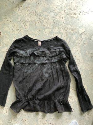 Nolita Tunique-blouse gris foncé soie