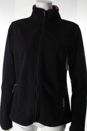 Nomad Fleecejacke schwarzbraun-lila sportlicher Stil