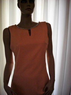 NOMINAL Designerkleid Apricot  NEU Gr 40 Extravagante Details