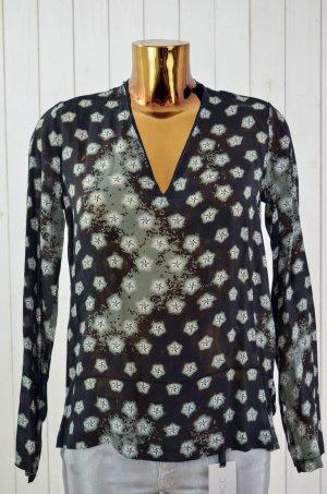 Camicetta a blusa nero-grigio Viscosa