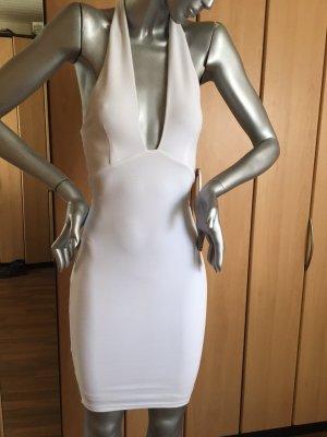 Halterjurk wit Polyester