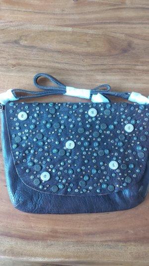 Noosa Amsterdam Tasche braun Nieten shoulder bag vintage Leder für 6 Chunks NEU