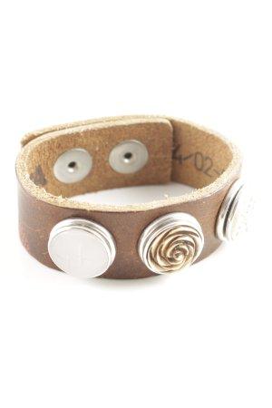 Noosa Armband bronzefarben-silberfarben Casual-Look