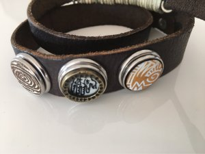 Noosa Leather Bracelet dark brown leather