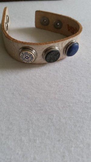 NOOSA Armband weiß mit 3 Chunks