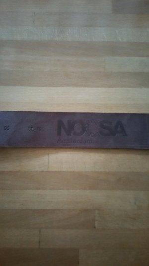 Noosa Gürtel Braun mit Muster und einem Chunk