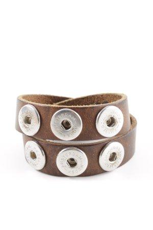 Noosa Leather Bracelet brown casual look