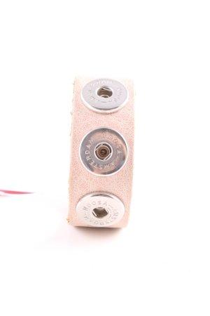 Noosa Bracelet en cuir rose-argenté style décontracté