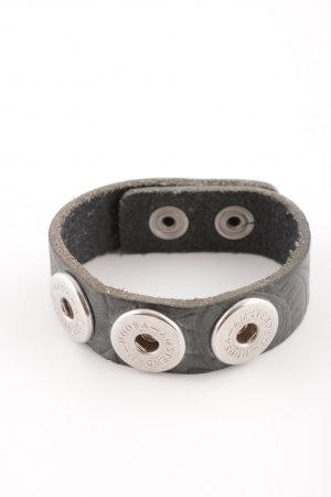 Noosa Leather Bracelet black-silver-colored casual look