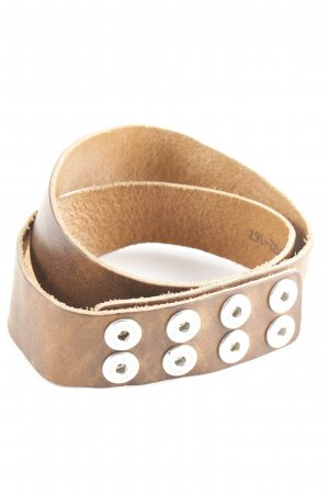 Noosa Leather Belt brown casual look