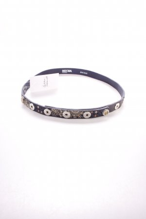 Noosa Leather Belt dark blue floral pattern Boho look